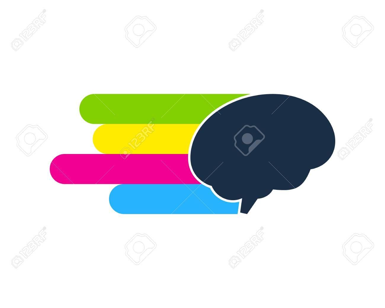 Brain Paint Logo Icon Design