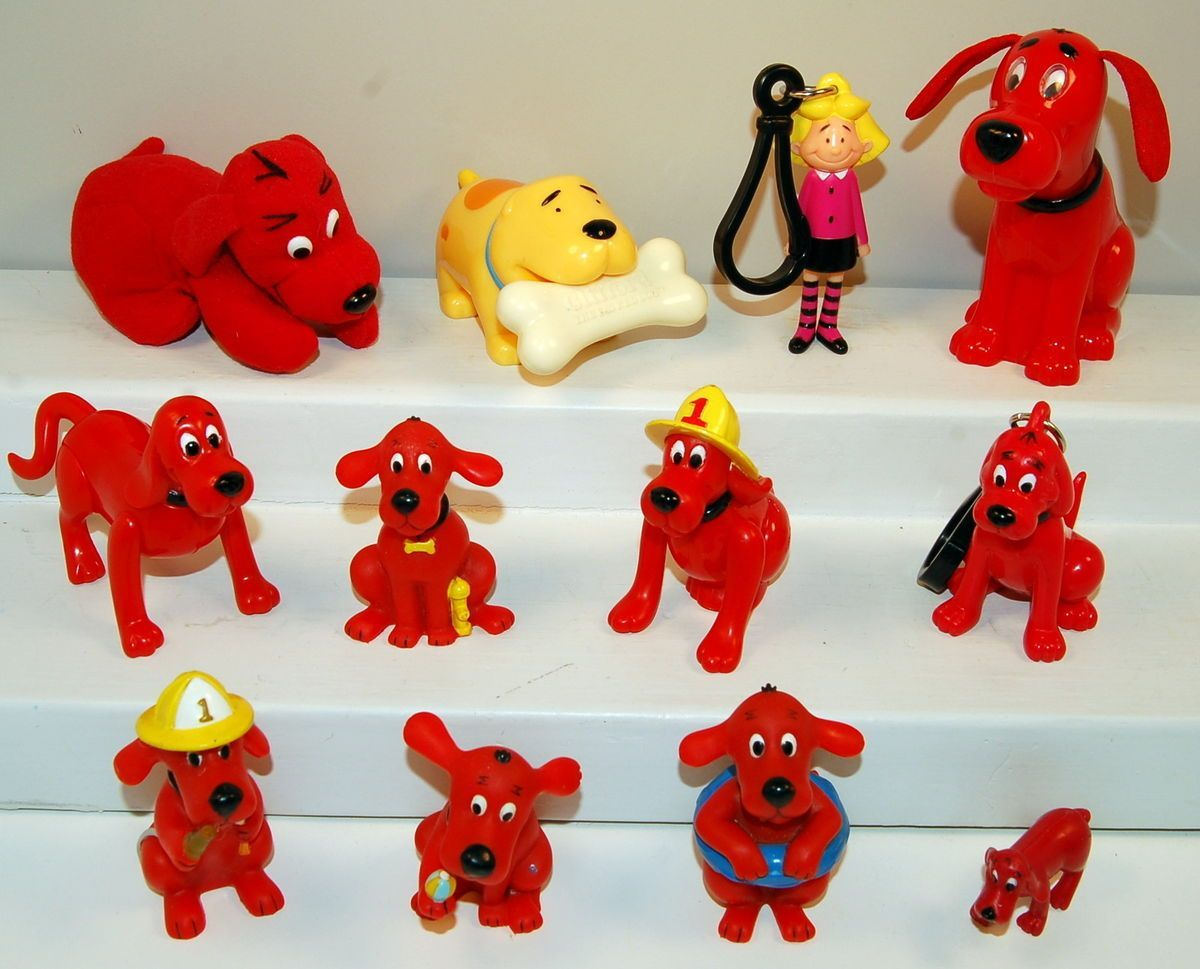 12 Clifford The Big Red Dog Pvc Action Figure Toy Lot Emily