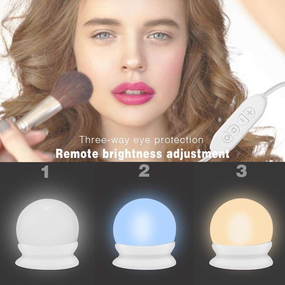 Led Spiegelleuchte 10 Led Spiegelleuchte Schminklicht Hollywood Stil Dimmbar Spiegellampe Make Up Licht Spi Schminkspiegel Schminklicht Spiegellampe