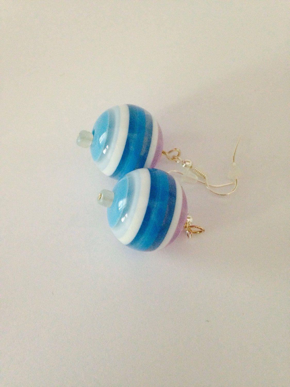 A personal favorite from my Etsy shop https://www.etsy.com/listing/243945638/blue-earrings-purple-earrings-turquoise