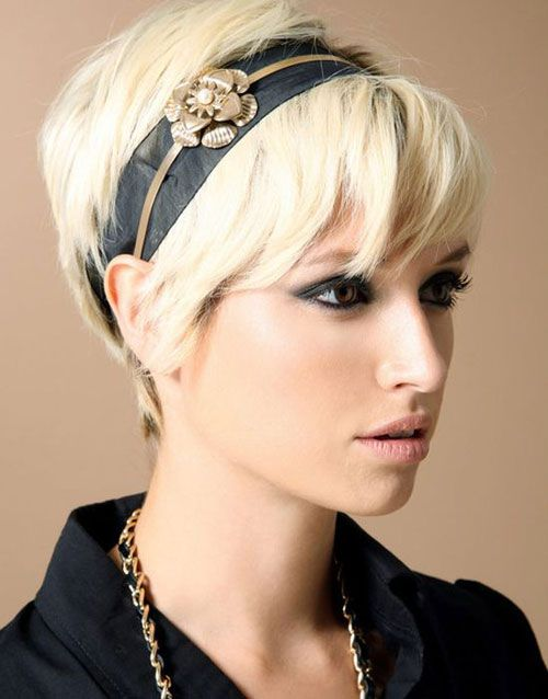 Short Hairstyles For long faces with headbands | hair | Pinterest ...