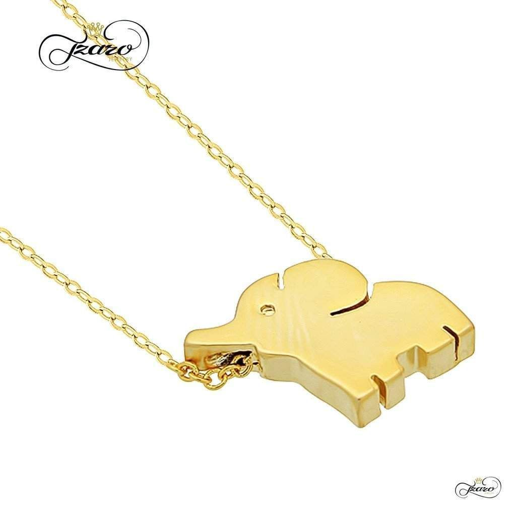 Small elephant necklace sterling silver k gold plated mini