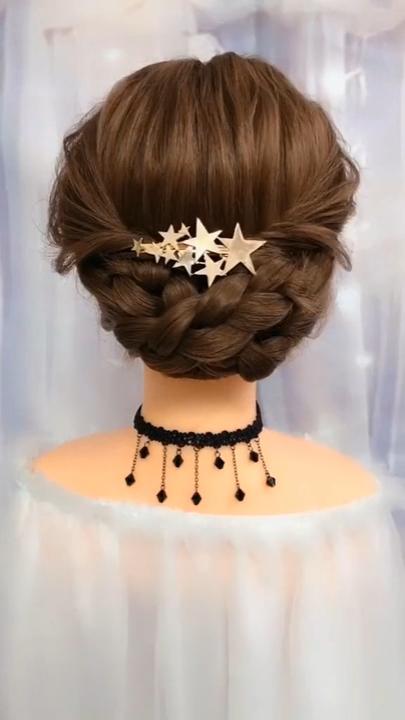 Cute Stars Ponytail Braid Long Hairstyles Tutorial #updotutorial