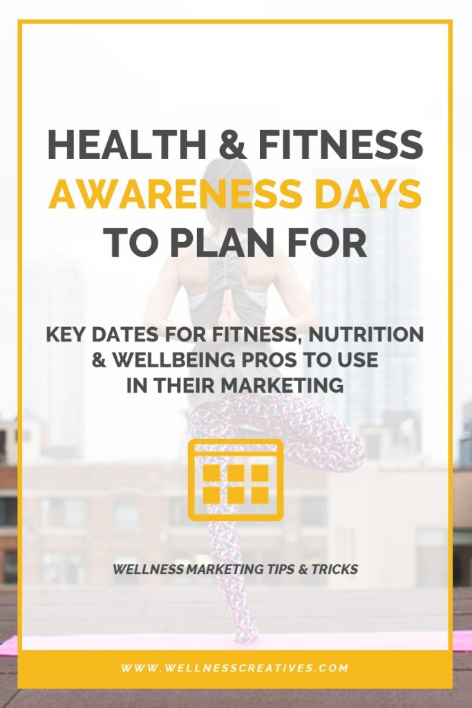 Health Awareness Days 2020 Key Dates For Fitness