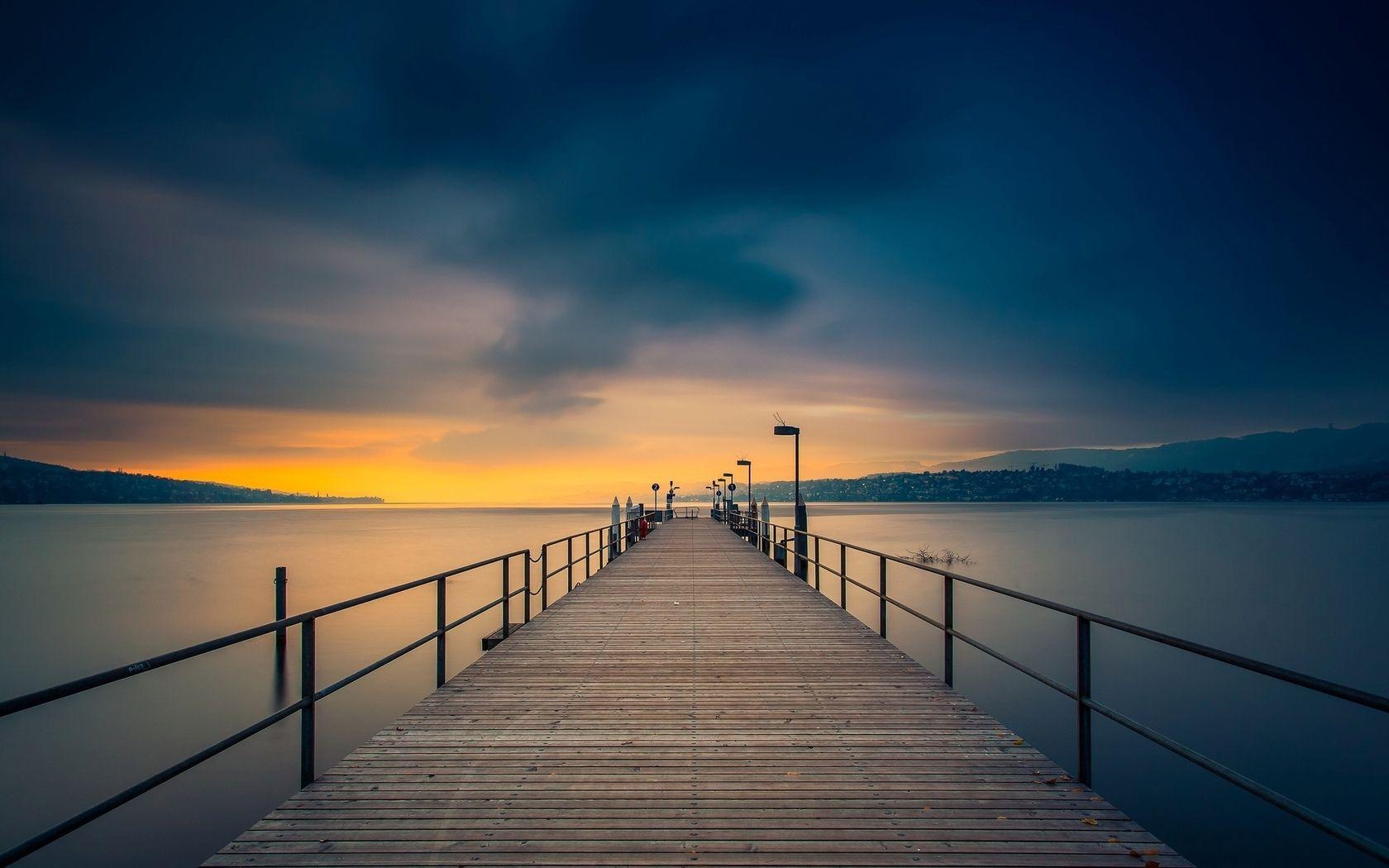 Pin By Anna Kuznetsova On Drawing Dusk Sunset Sky Sky Wallpaper sky clouds pier sea horizon