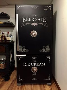 Beer Safe - Ice Cream Safe Refrigerator Wrap - #Beer #boheme #cream #Ice #Refrigerator #Safe #Wrap #garagemancaves