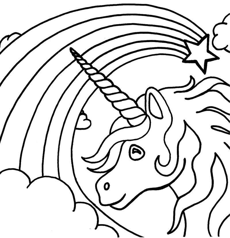 Unicorn Color Pages Rainbow Unicorn Coloring Pages Emoji