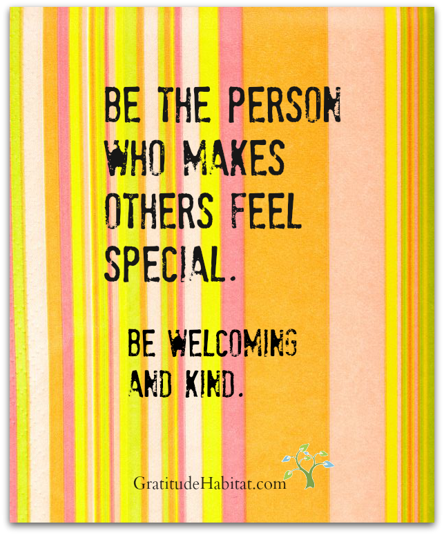 Hello, I'm happy to see you.  Visit us at: www.GratitudeHabitat.com #be-kind-quote #welcoming