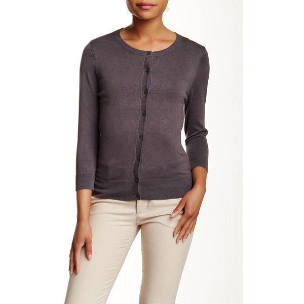 f5bb33b4b30a SUSINA 3 4 Length Sleeve Cardigan (Petite) ( 23) ❤ liked on ...