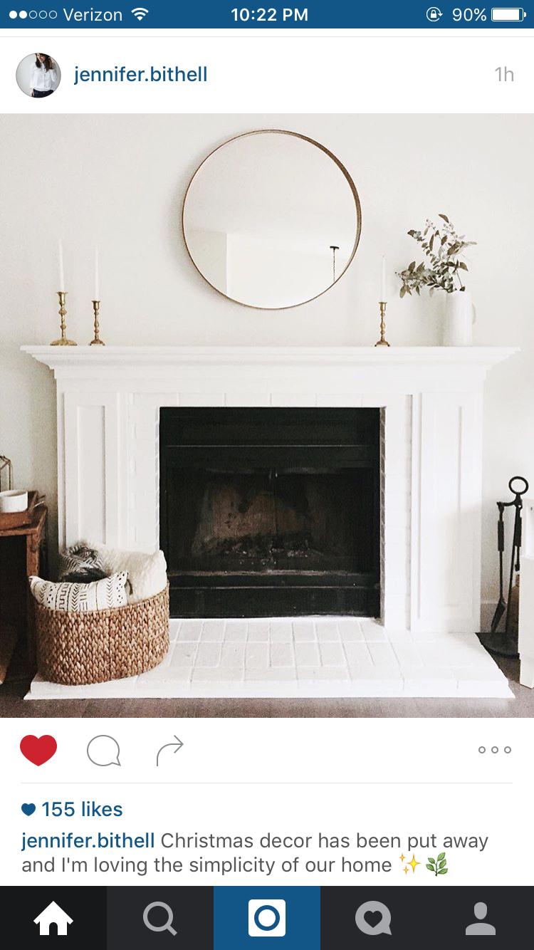 Mirror above the fireplace fireplace ideas pinterest living
