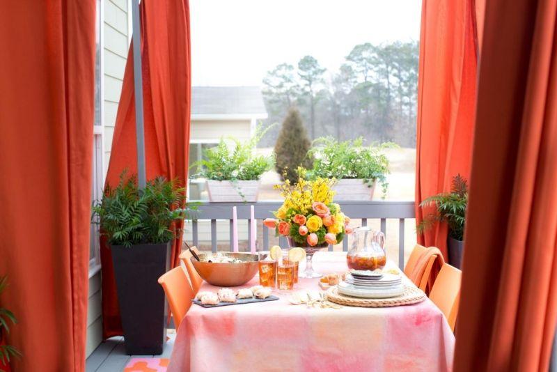 Bastelideen Für Den Sommer Vorhaenge Windschutz Balkon