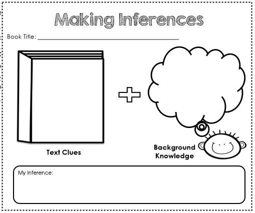 Comprehension Graphic Organizer Tool – Making Inferences