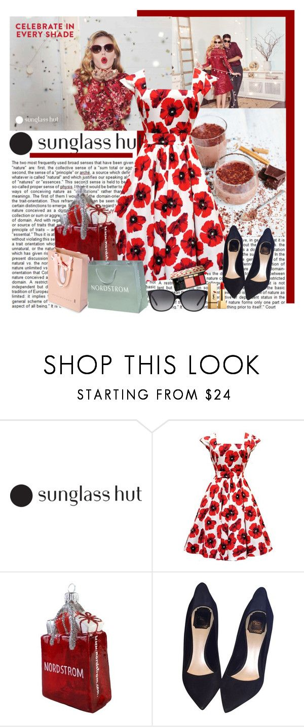 """Celebrate in Every Shade with Sunglass Hut: Contest Entry"" by polybaby ❤ liked on Polyvore featuring Jamie Oliver, Nordstrom, Christian Dior, Yves Saint Laurent and Michael Kors"