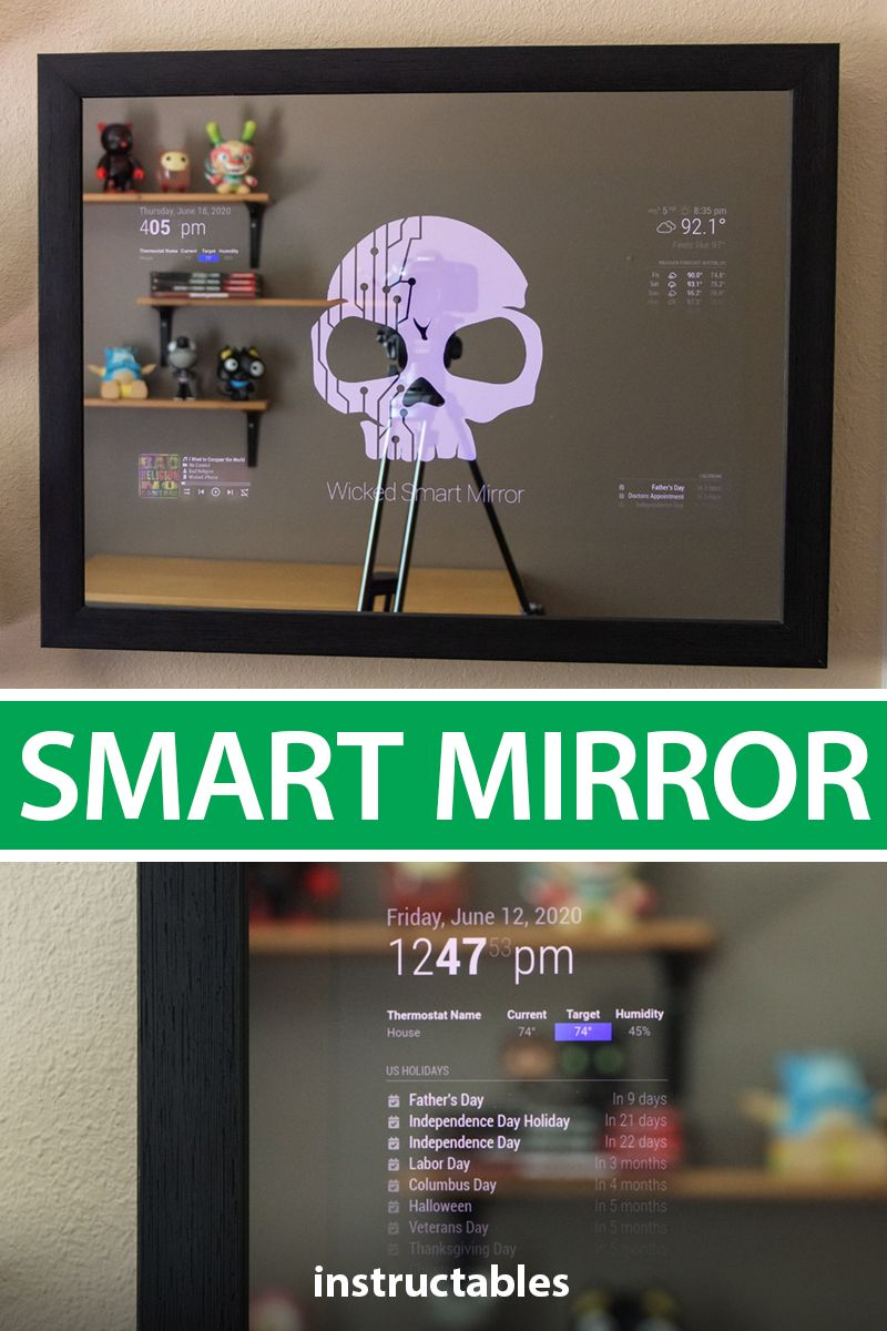 How to make a diy smart mirror in 2020 diy projects