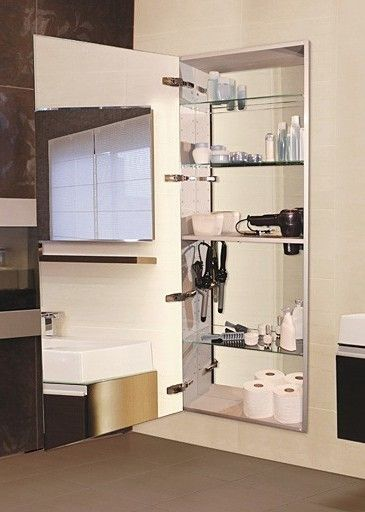 Tall 60 Recessed Left Hinge Mirror Cabinet Mirror Cabinets Full Length Mirror In Bathroom Bathroom Mirror Storage Full length mirror medicine cabinet