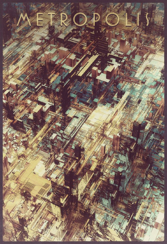 Metropolis from the Legendary Cities series by Atelier Olschinsky