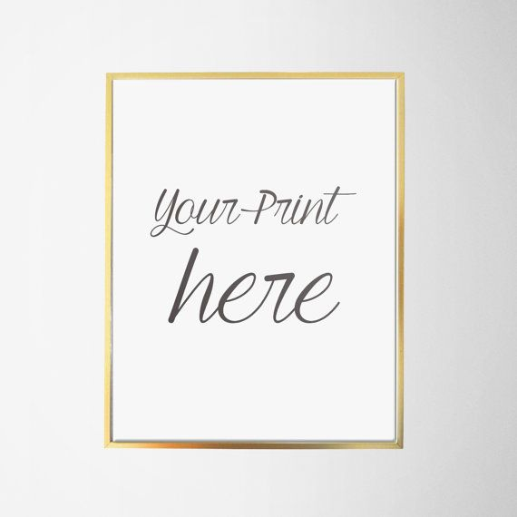 Gold Frame 8x10 Thin Aluminum Gold Frame Gold By Jettyprintables