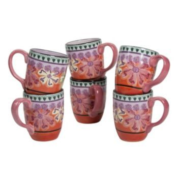 Dinnerware · Kathy Davis ...  sc 1 st  Pinterest & Kathy Davis Hearts and Flowers 6-pc. Mug Set Multicolor | PC and ...