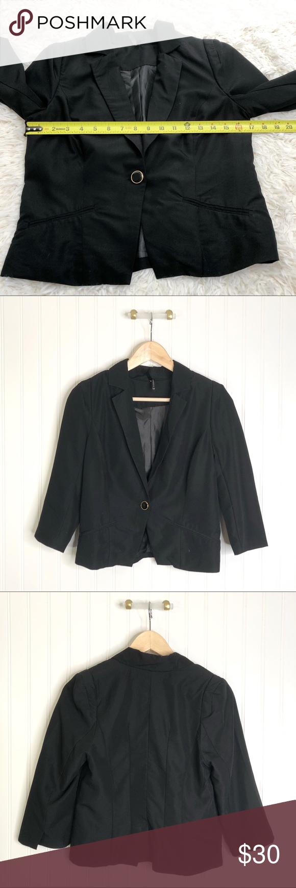 Ashley Outerwear Jacket Black Blazer Button M Outerwear Jackets Black Blazer Jackets [ 1740 x 580 Pixel ]