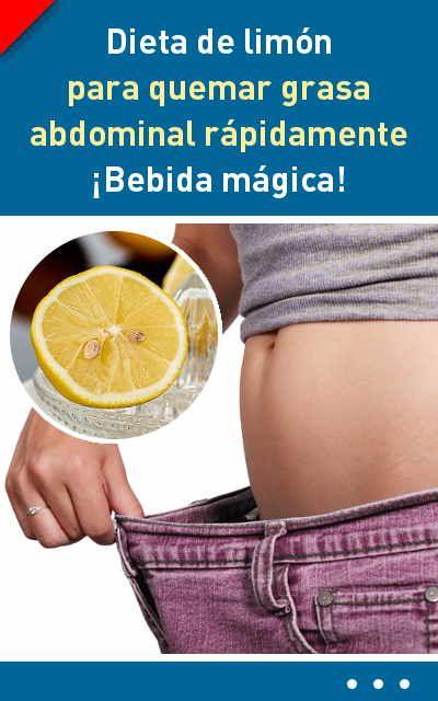 Adelgazar rapido limon