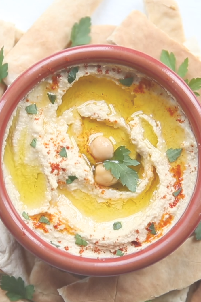 This Homemade Hummus couldn't be easier if it tried! Just plonk everything in a food processor and you're on your way. One condition – there must be tahini! |