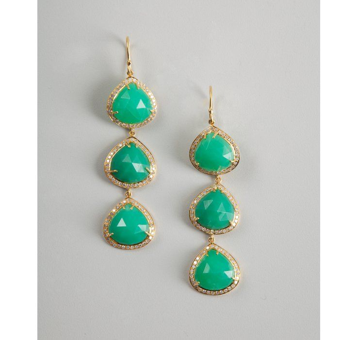 chrysophase and diamond drop earrings, at a ridiculous $4688.00