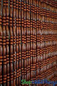 Wooden Bead Curtain \