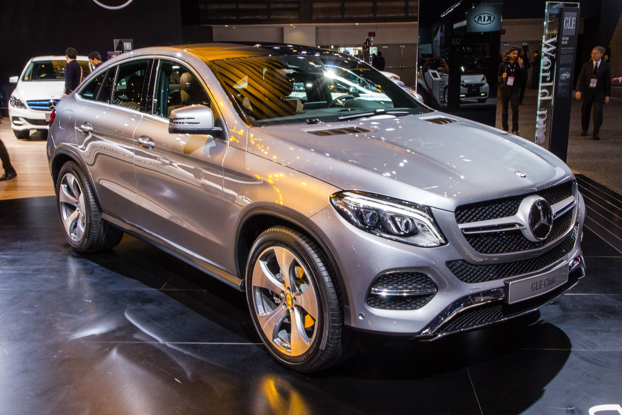 2016 Mercedes Benz GLE Coupe live photos 2015 Detroit Auto Show