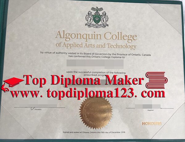 Algonquin College Of Applied Arts And Technology Fake Degree Sample Buy Fake Algonquin College Degree B Algonquin College College Diploma University Diploma