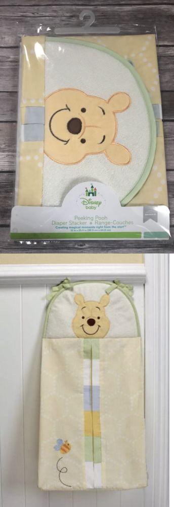 Disney Winnie the Peeking Pooh Diaper Stacker Blue Yellow Green