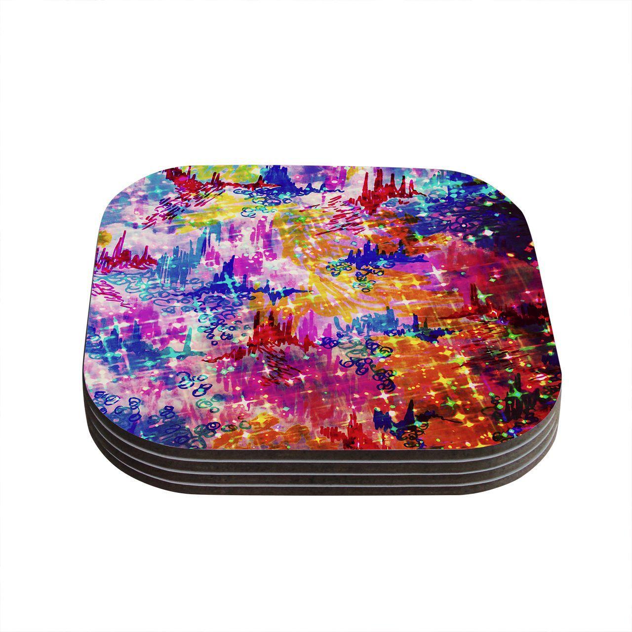 Kess InHouse Ebi Emporium 'Sky Risers' Glam Coasters