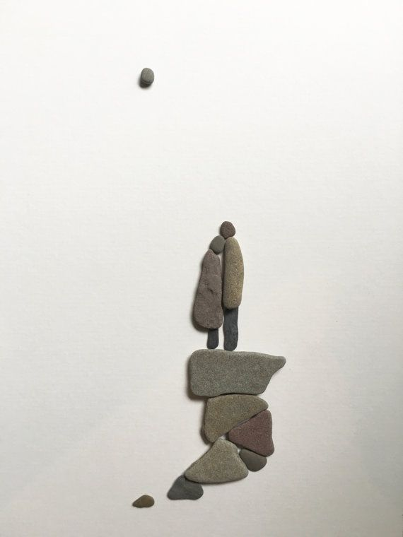 8 by 15 couple pebble art by sharon nowlan 8 by 15 by PebbleArt