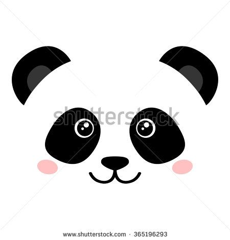 cute panda face stock vector vector animal pegs pinterest