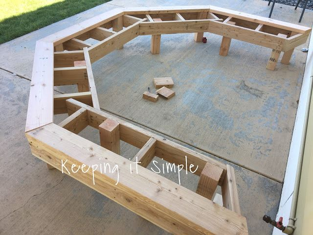 DIY Fire Pit Bench with Step by Step Insructions • Keeping it Simple