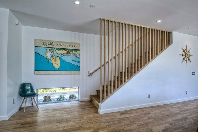 Lighting Basement Washroom Stairs: 15 Outstanding Mid-Century Modern Staircase Designs To
