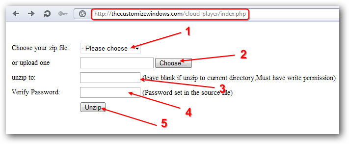Upload and Uzip to FTP from Browser for Rackspace Cloud