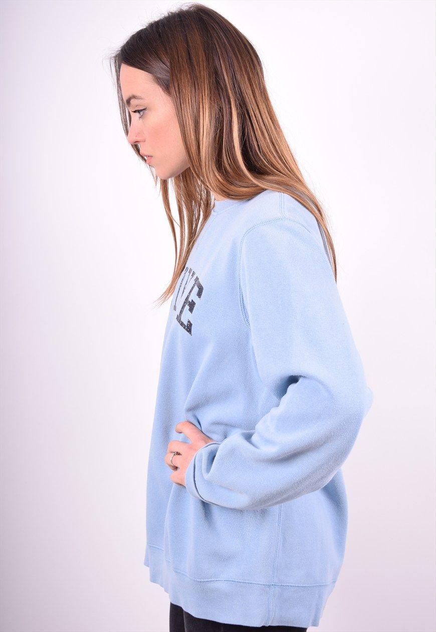 Nike Womens Vintage Sweatshirt Jumper Size 16 Blue 90 S Messina Girl Asos Marketplace Sweat Women Trendy Outfits Vintage Sweatshirt [ 1262 x 870 Pixel ]