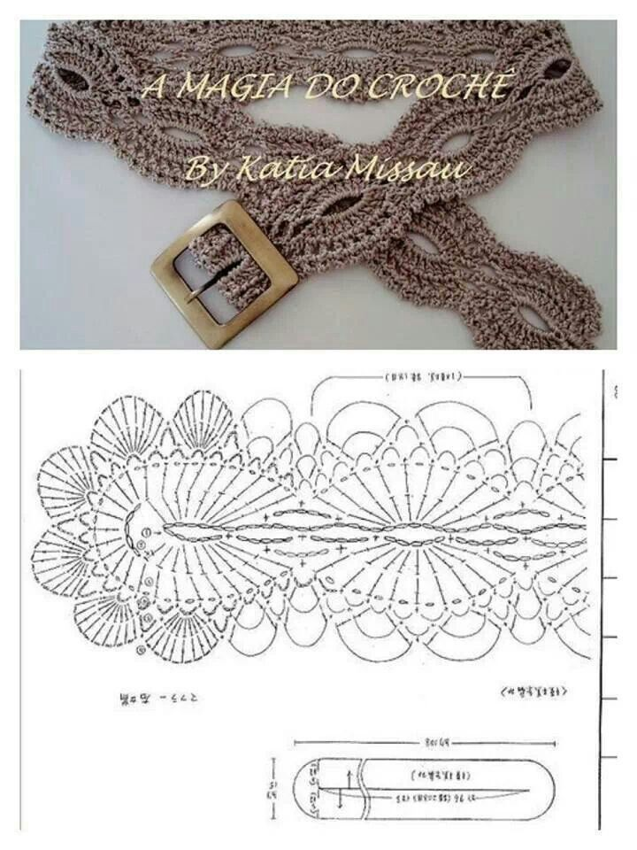 Correa crochet | Crochet Patrones | Crochet, Crochet belt y Crochet ...