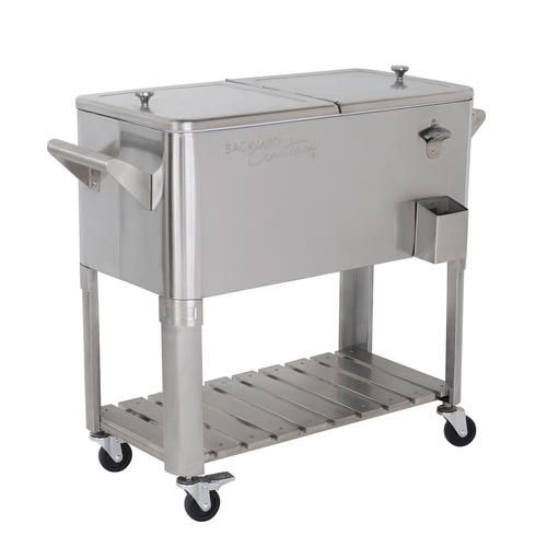 80 Qt Stainless Steel Patio Cooler At