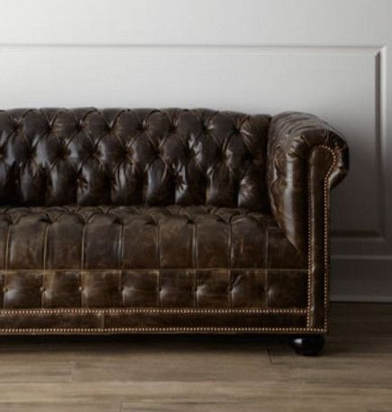 Merveilleux Traditional Victorian Tufted Leather Chesterfield Sofa U2013 Horchow Via  Atticmag