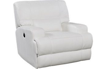 Galiano White Leather Power Recliner Rooms to go  sc 1 st  Pinterest & Galiano White Leather Power Recliner Rooms to go | Recliners ... islam-shia.org