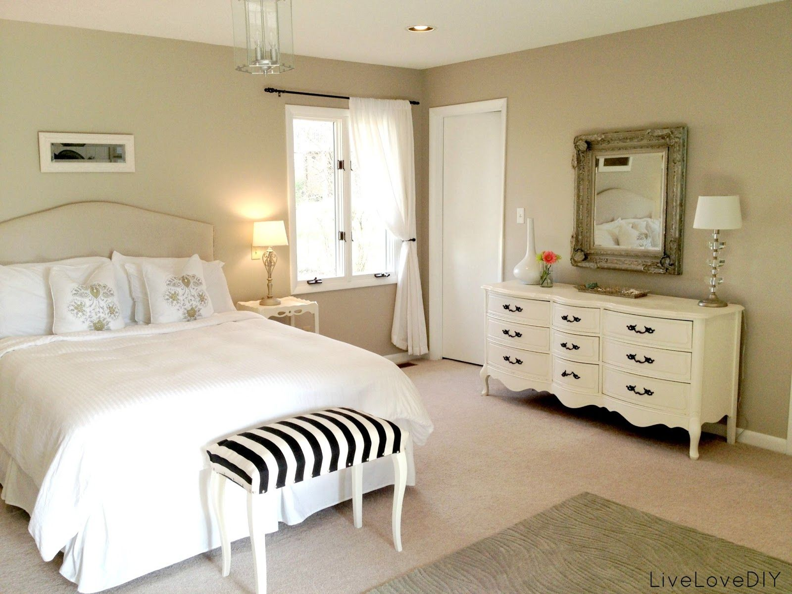 Yesterday I shared a few changes I made to our master bedroom ...