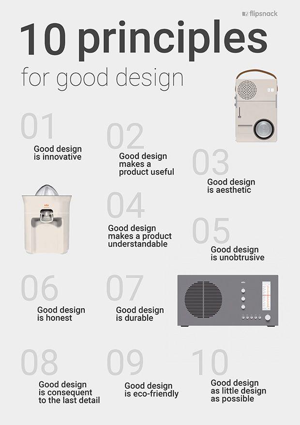 10 Principles Of Good Design Plastic Design Design Thinking
