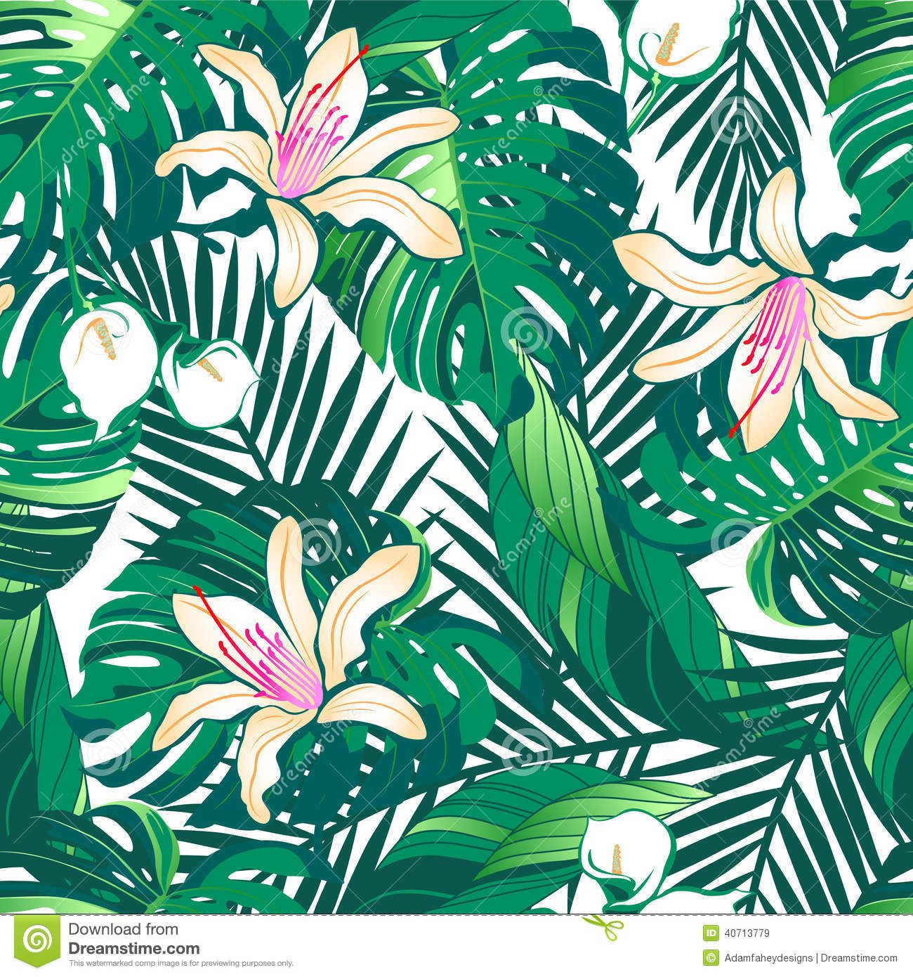 tropical wallpaper pattern - photo #47