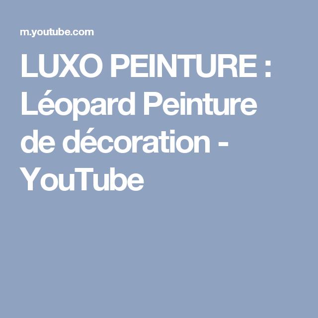 Luxo peinture léopard peinture de décoration
