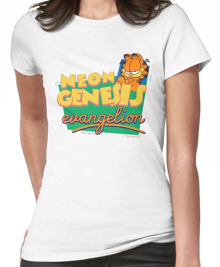 Neon Genesis Evangelion Garfield T Shirt By Notreally Neon Genesis Evangelion Garfield Evangelion