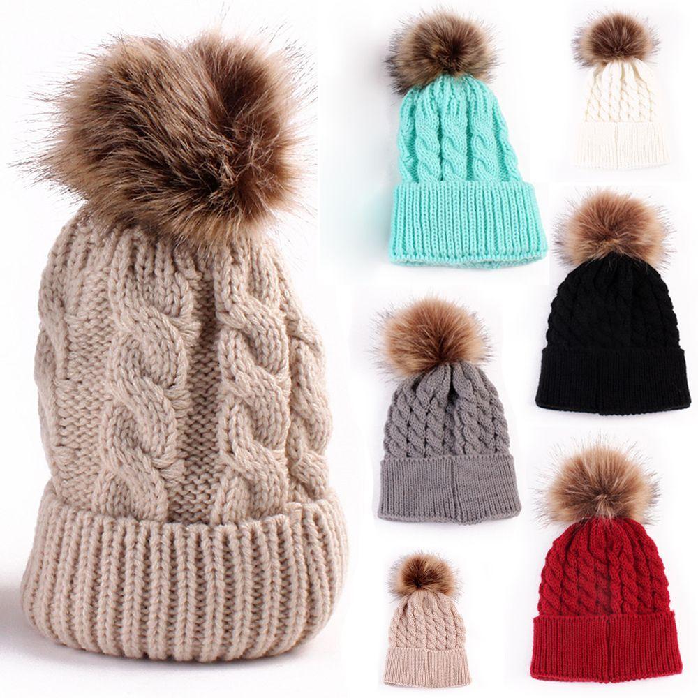 moda mujeres otoo invierno clido tejer sombrero gorro de lana suave lana de  punto de ganchillo with gorros de lana de moda. aeb2093d03e