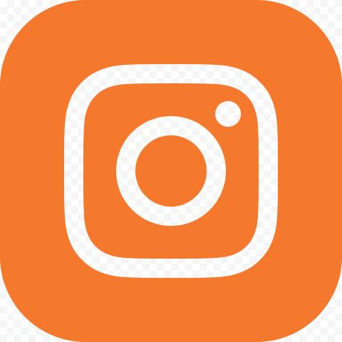 Orange Square Instagram Logo Sign Icon Instagram Logo Logo Sign Orange Square