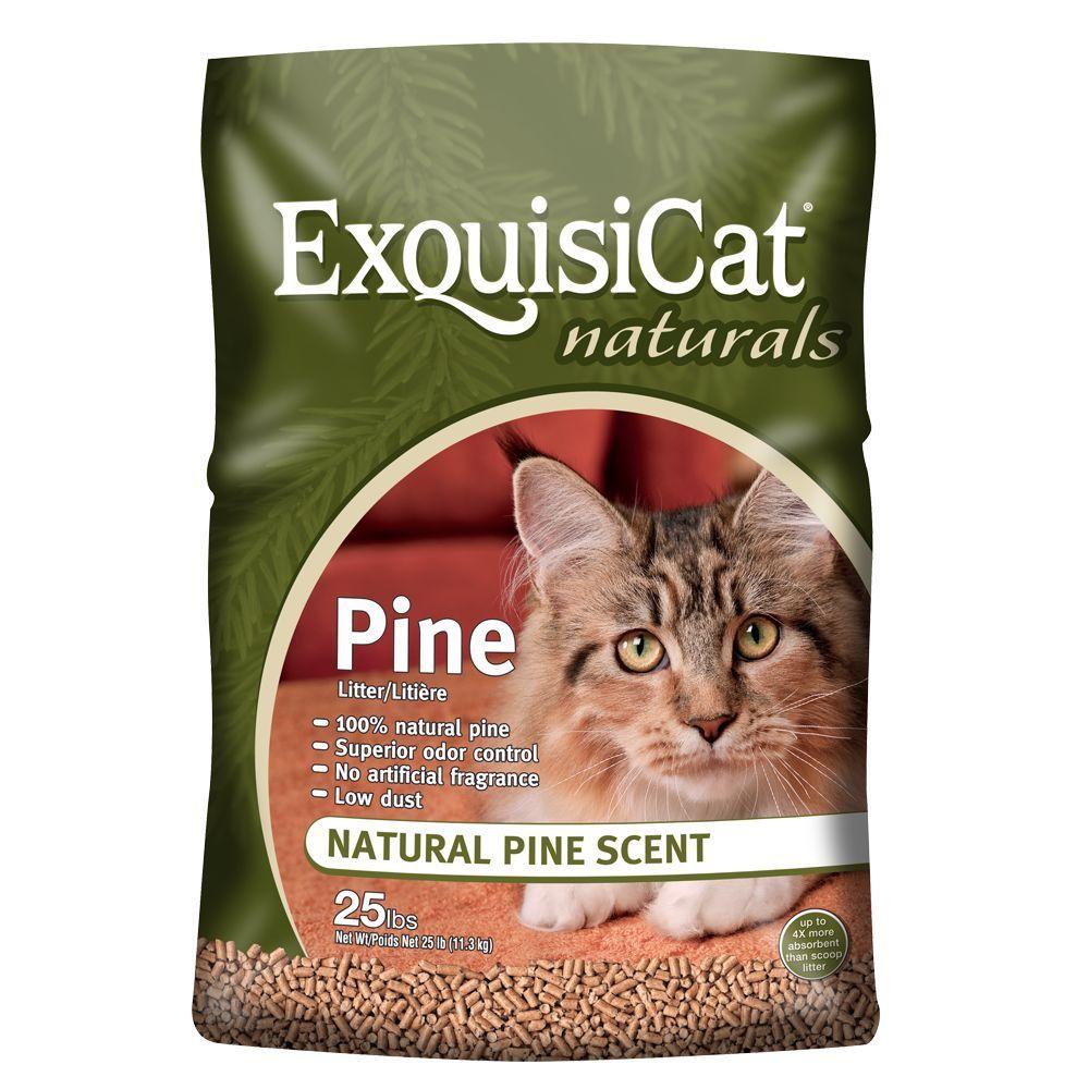 ExquisiCat Naturals Pine Cat Litter size 25 Lb, Green