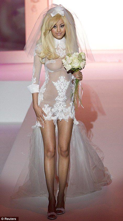 Zahia Dehar in Paris Fashion Week Haute Couture F/W 2013